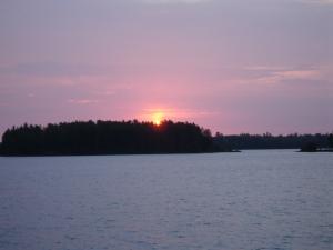 Lake Insula sunset