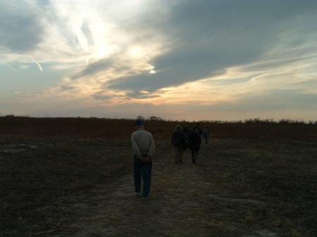 Dad, age 90, in Nebraska, viewing the Lesser Sandhill Crane migration.  He lived to see this wonderful spectacle.