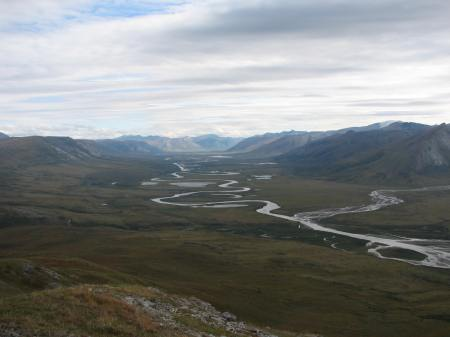 Noatak River, looking east, some of the most remote country in North America.