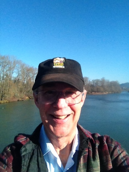 Autzen Bridge, over the Willamette River.  Hat reads Kobuk Valley, the most remote National Park in North America, and a real gem.