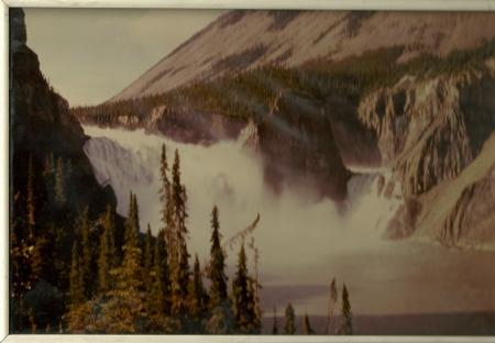 Virginia Falls, South Nahanni River, NWT, July, 1985.