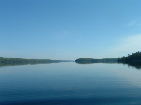 Agnes Lake, on my last trip into Kawnipi Lake, Quetico Provincial Park, 2005, age 56.