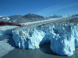 Nose of glacier.
