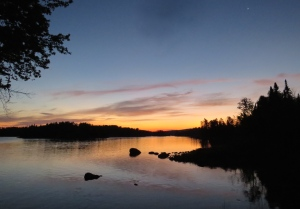 View from campsite in Boundary Waters, 2015.